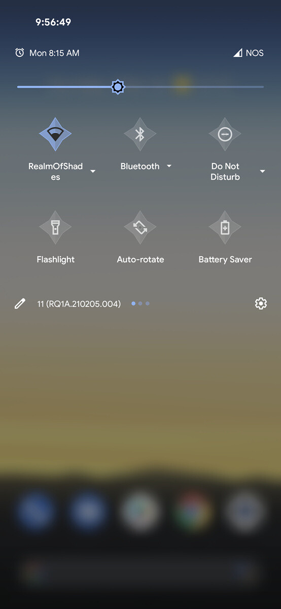 Customized Quick Settings Panel