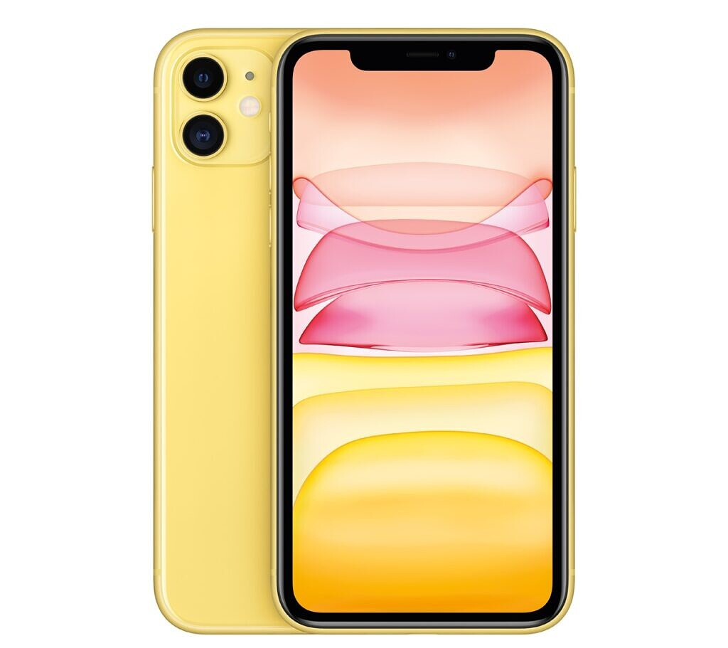 The iPhone 11 in yellow