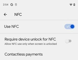 Android 12 DP3 require device unlock for NFC