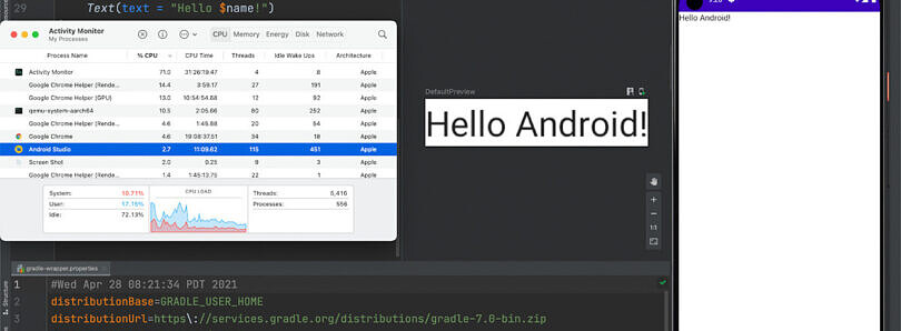 Android Studio Canary adds initial support for Apple's new M1 Macs