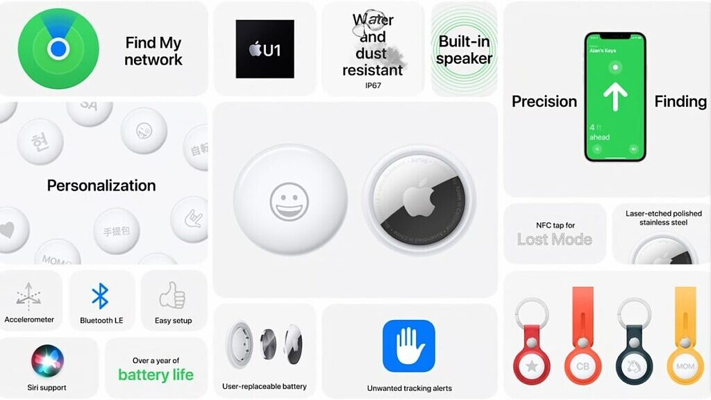 Apple AirTags specifications