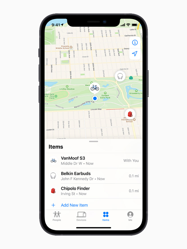AirTag in Find My app