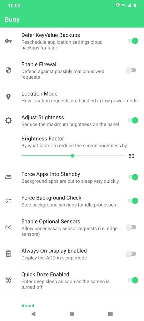 Buoy app customize Android battery saver settings 2