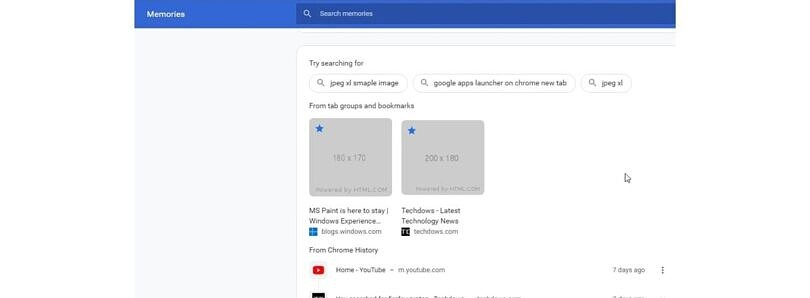 Google Chrome is testing a Memories feature to easily manage your web activity