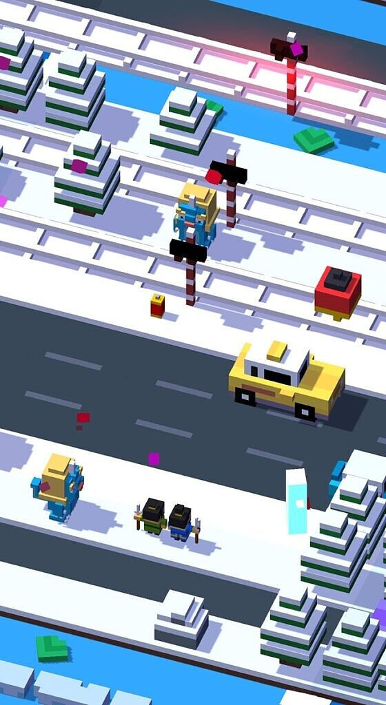 Crossy Road - snow