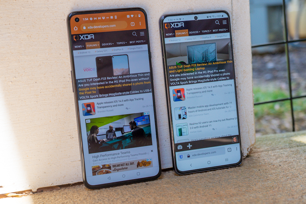 OnePlus 9 vs. Galaxy S21: Which sub-$800 phone is for you? - XDA Developers thumbnail