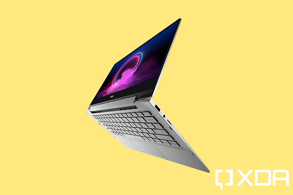 Dell Inspiron 17 7000 (7706) yellow background