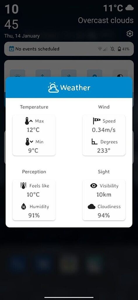 Descendant XI Weather in QS More Info Tap
