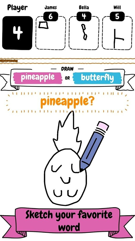 draw it - pineapple