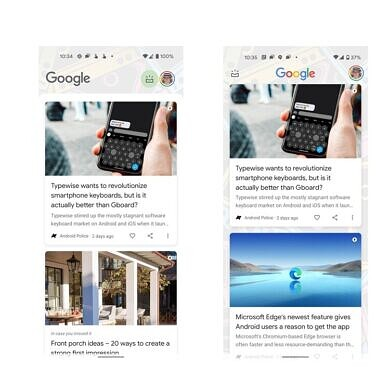 Google Discover appears to be getting a facelift in Android 12
