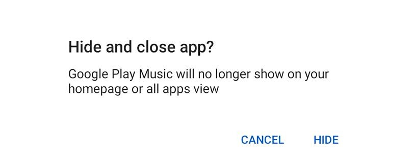 Google Play Music's final update lets you hide the app on your phone