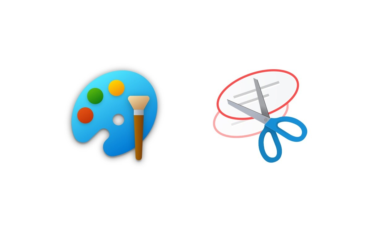 Microsoft Paint and Snipping Tools new icons