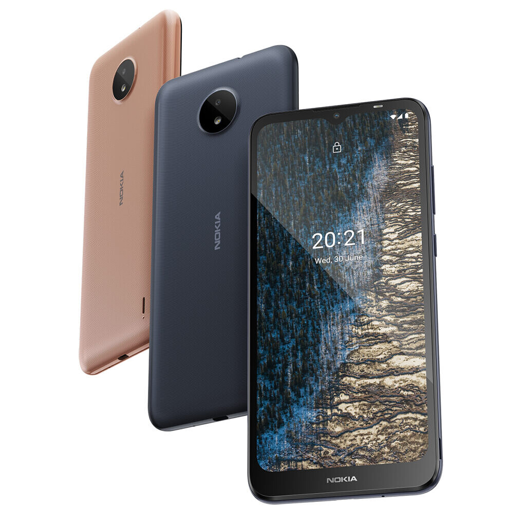 nokia c20 gold and gray