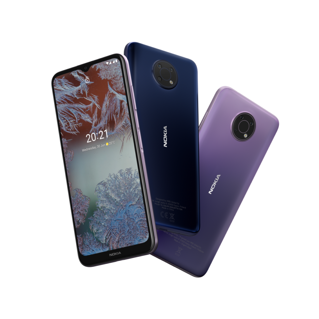nokia g10 lilac purple and blue