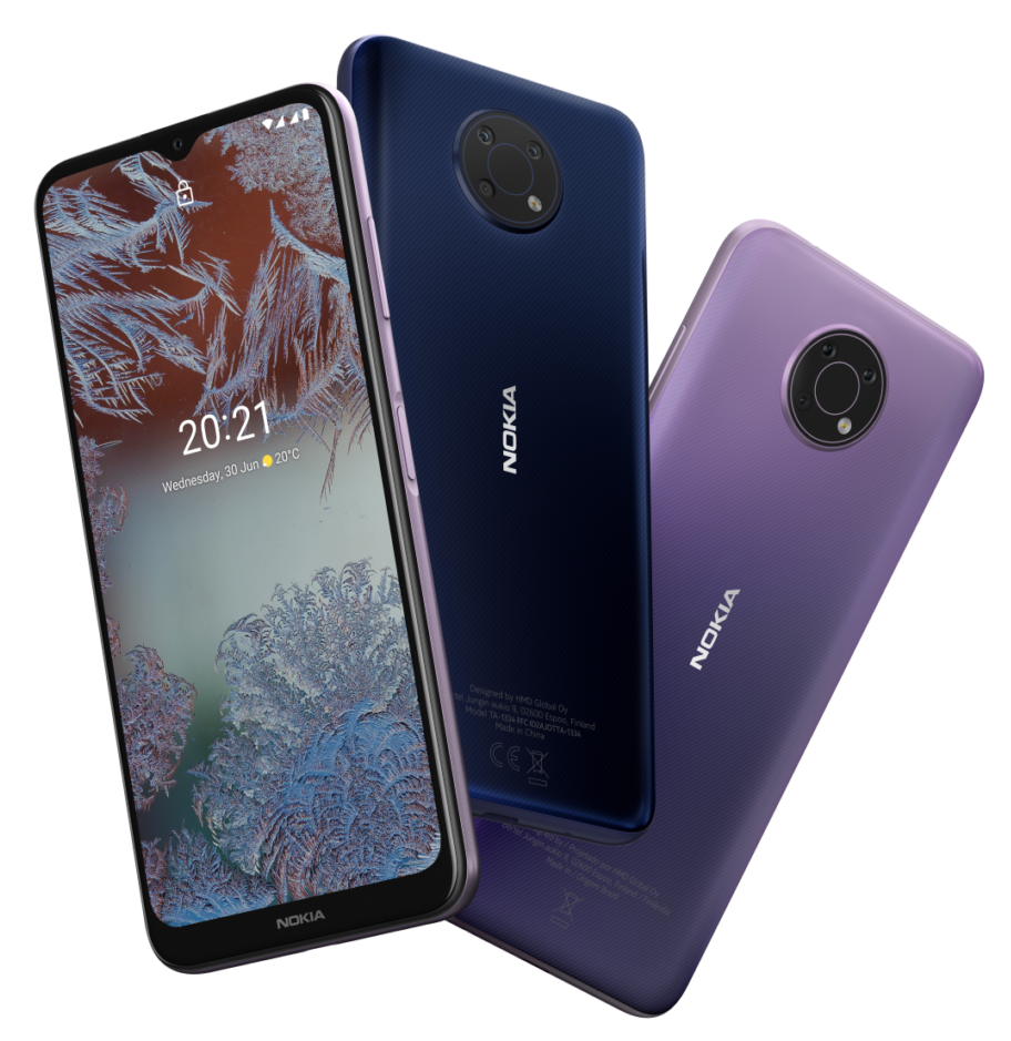 Nokia G10 blue and lilac purple