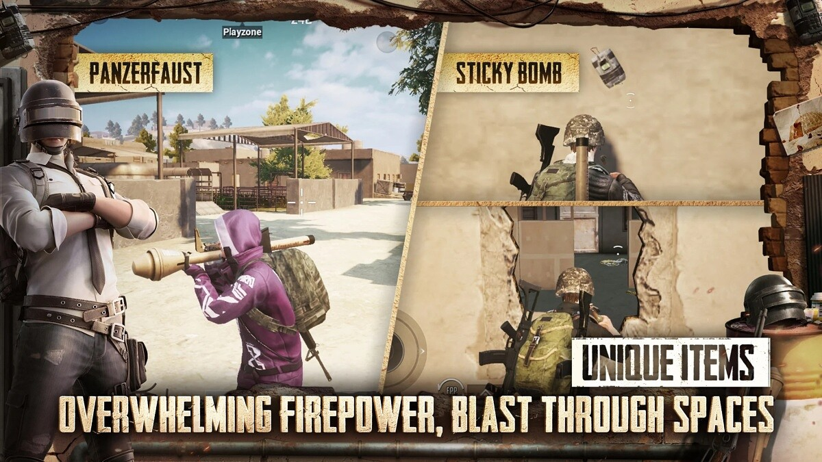 pubg mobile items