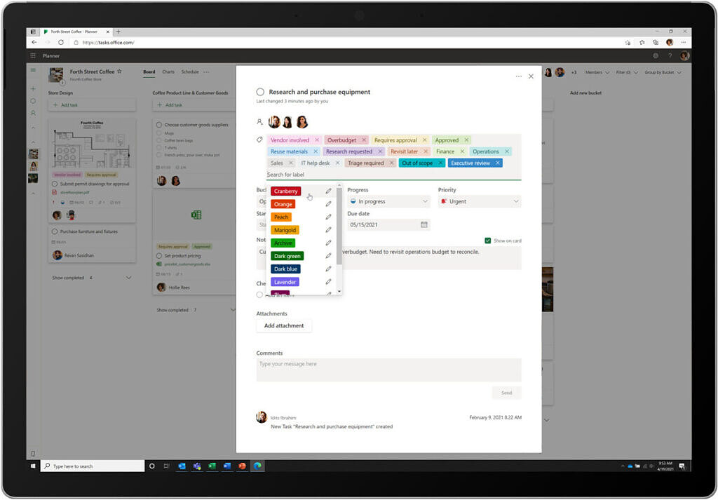 New labels in Planner and Tasks