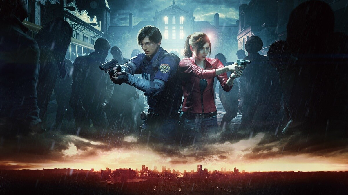 re2 remake - leon and claire