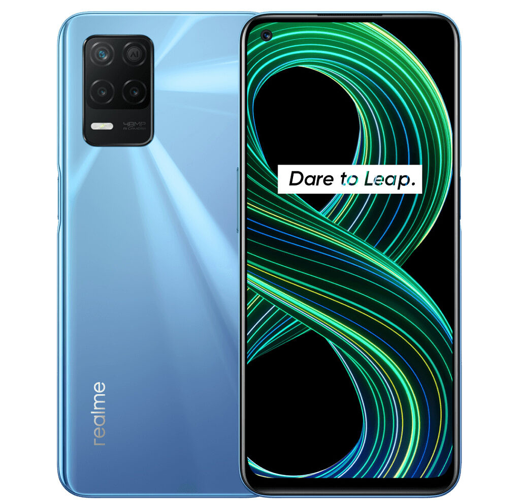 Realme 8 5G front and back
