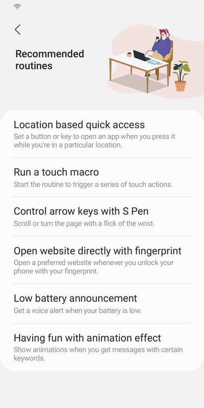 Samsung Good Lock Routine+ recommended routines