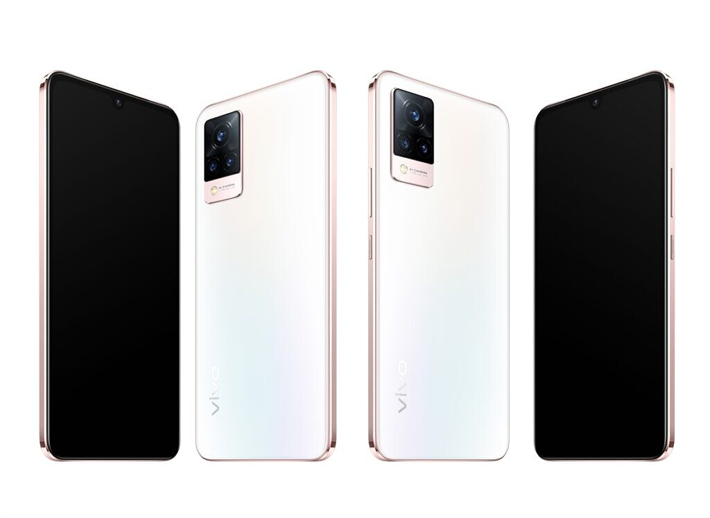 Vivo V21 V21 5G in Arctic White colorway