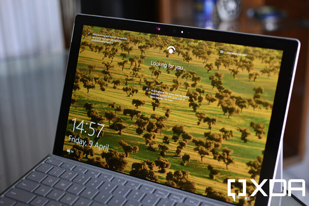Windows Hello face recognition on Surface Pro