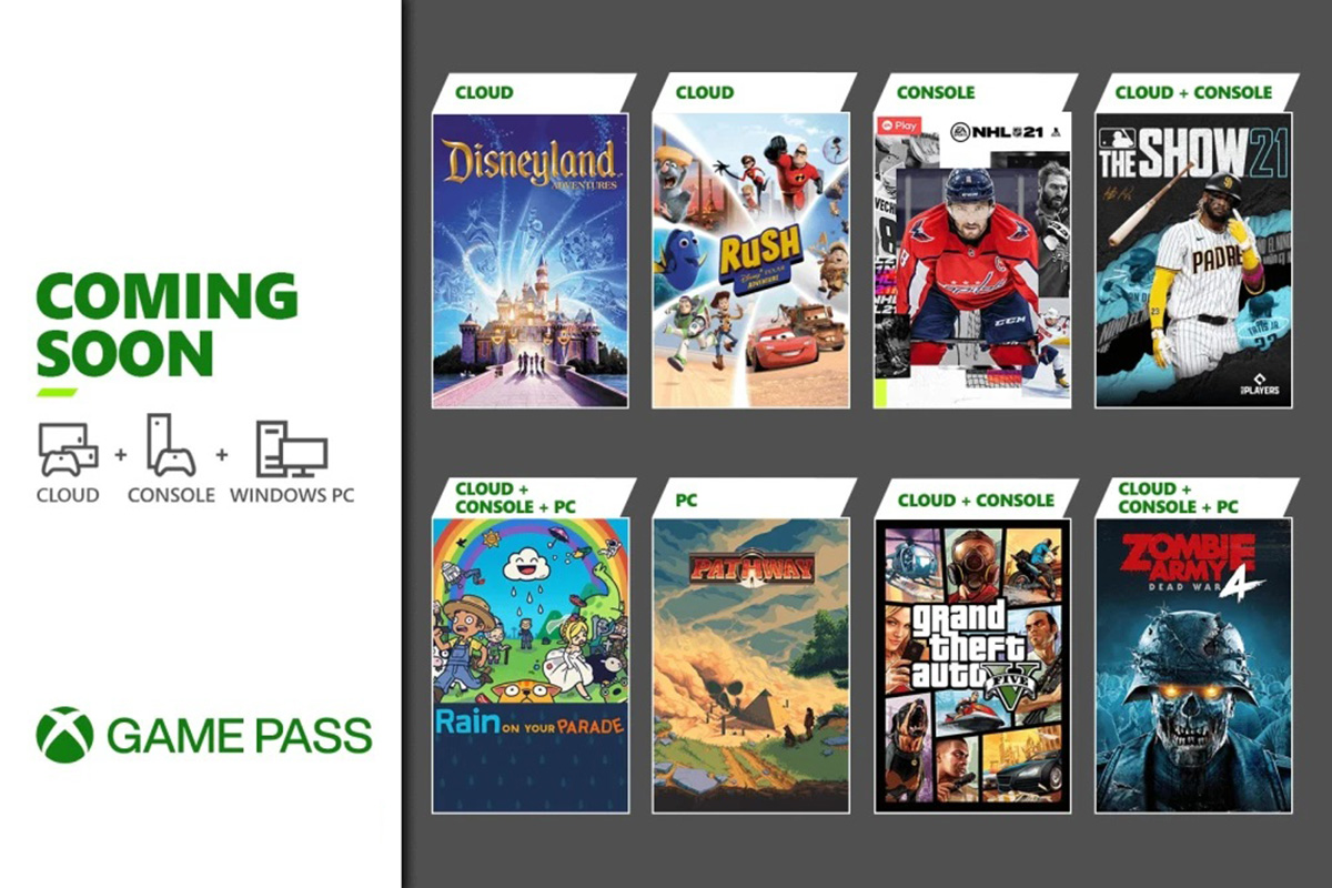 Xbox Game Pass April update to bring GTA V, NHL 21 and more