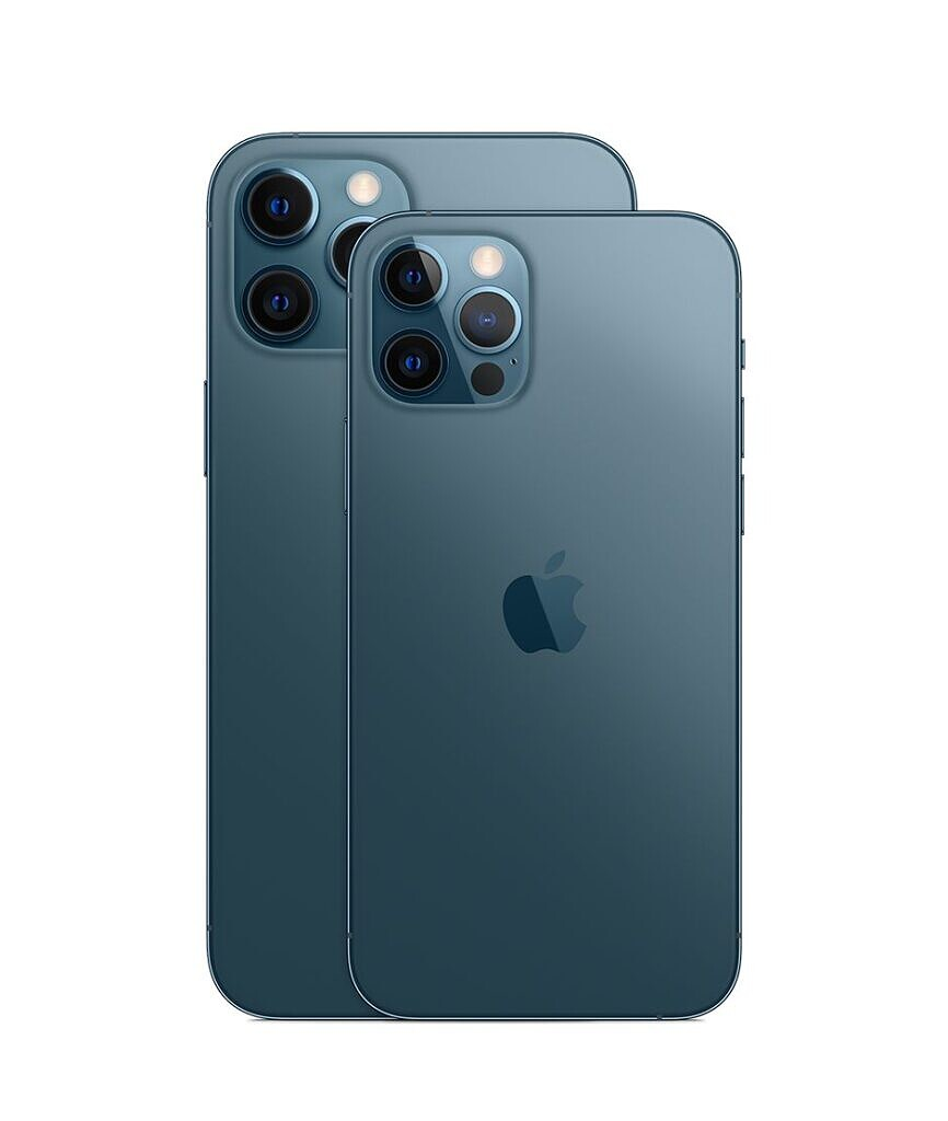 The iPhone 12 Pro in blue