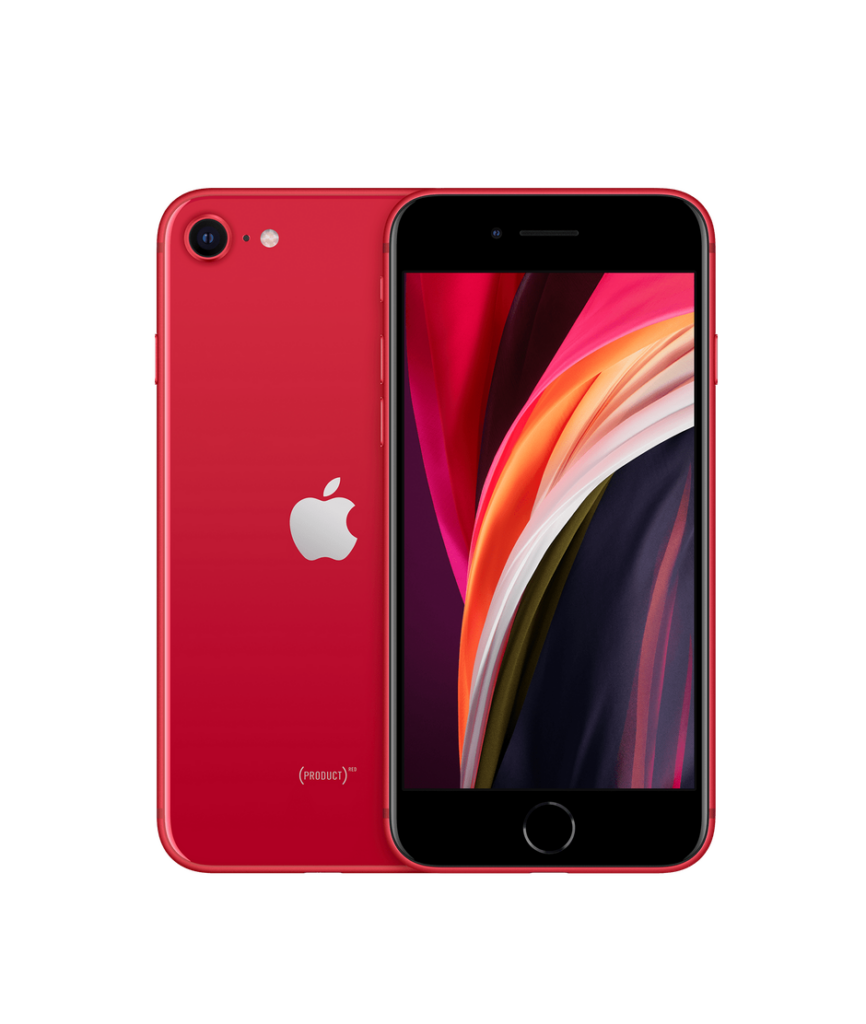 iPhone SE in red