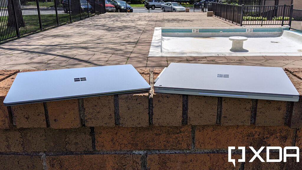 Surface Laptop 4 and Surface Book 3, closed