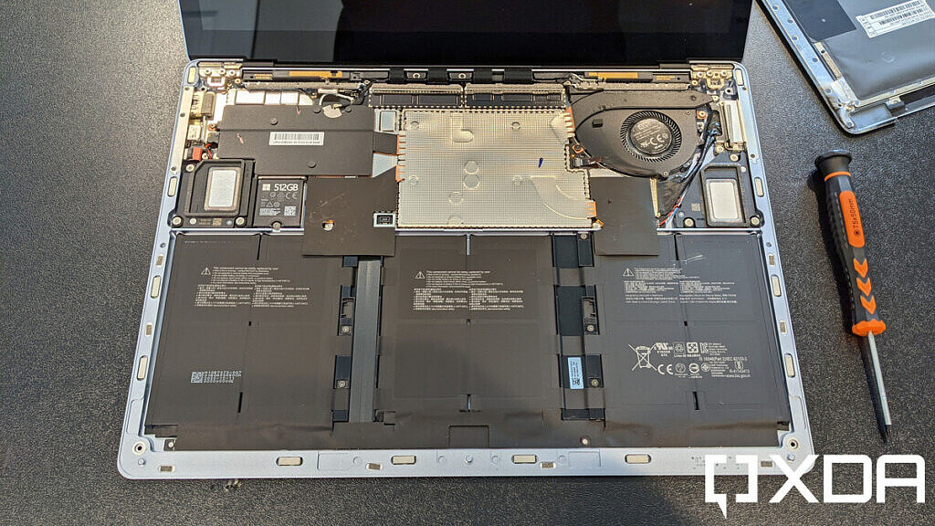 Surface Laptop 4 with keyboard removed