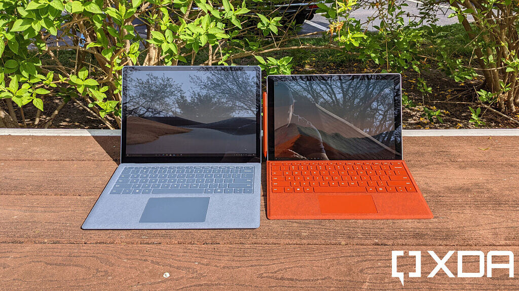 Surface Laptop 4 and Surface Pro 7 front view