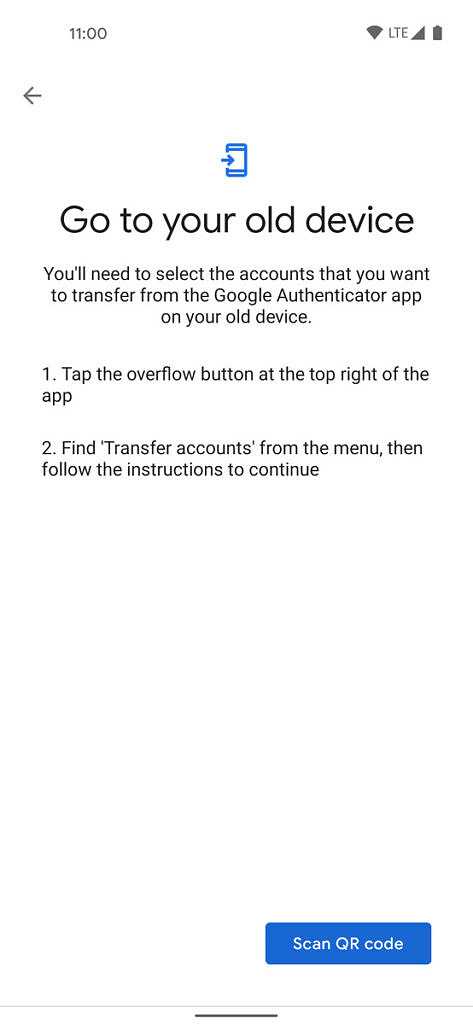 Google Authenticator Import Accounts From An Old Device