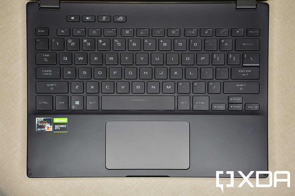 ASUS ROG Flow X13 keyboard and touchpad