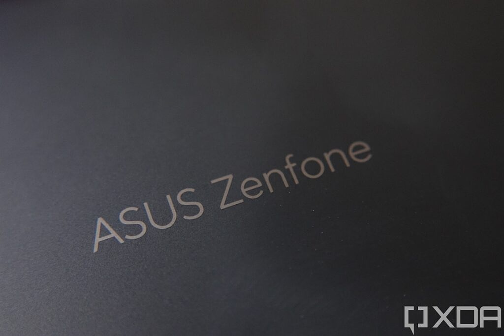 ASUS ZenFone logo on the back of the ASUS ZenFone 8