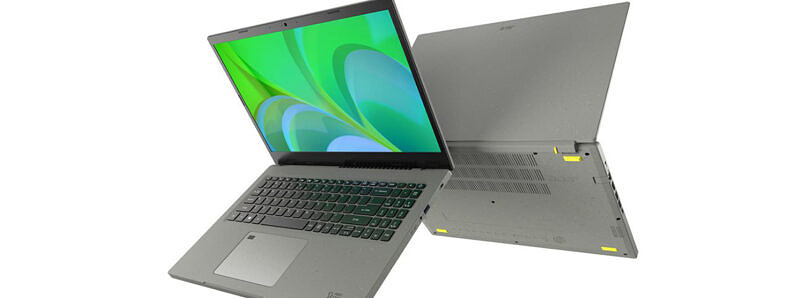 Acer Aspire Vero is the company's first laptop made out of post-consumer recycled plastic