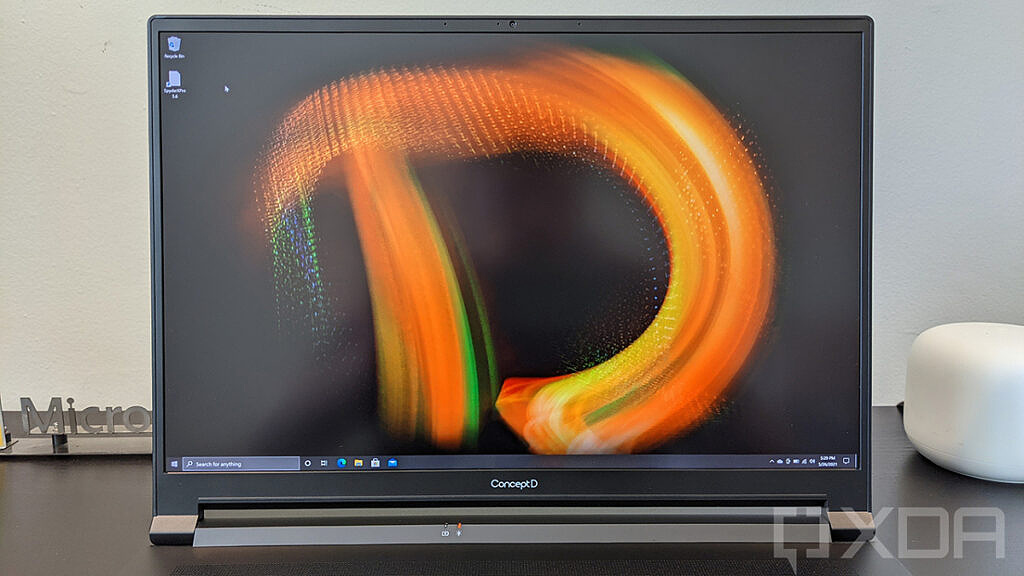 Close up of Acer ConceptD 5 display