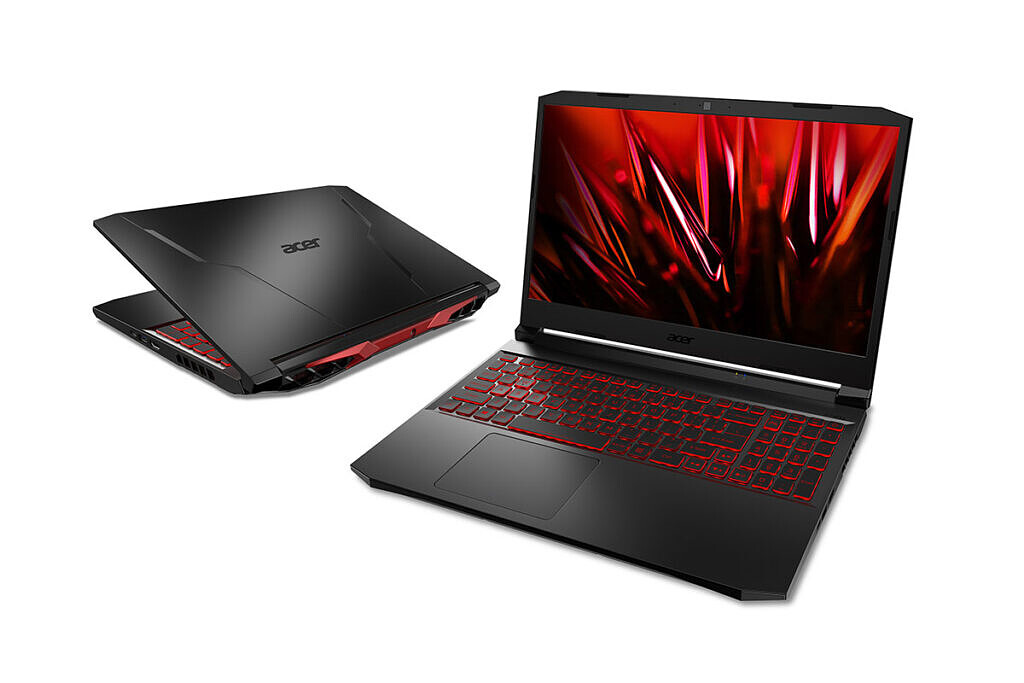 Acer Nitro 5 in open and closed positions