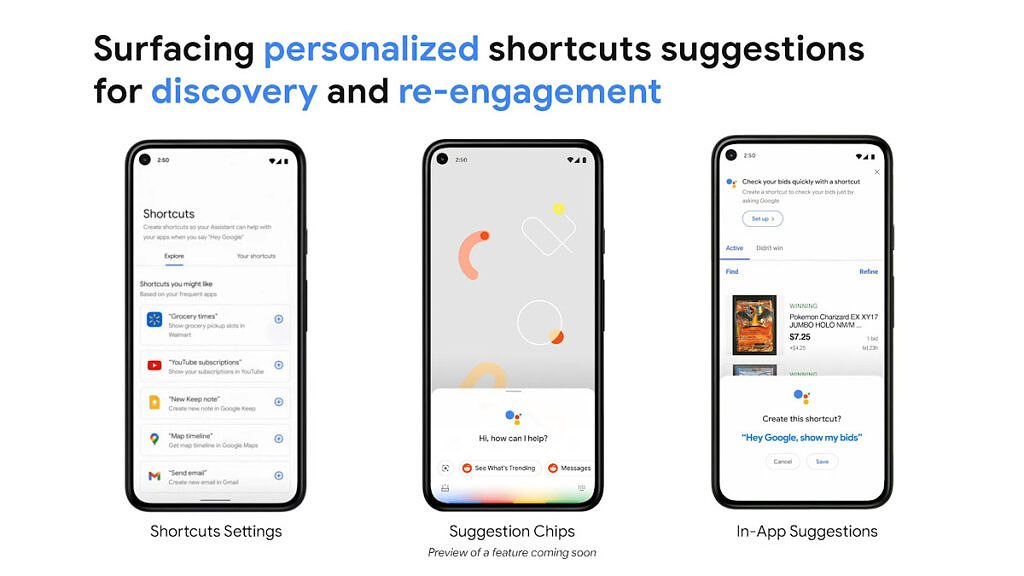 In-app shortcut suggestions