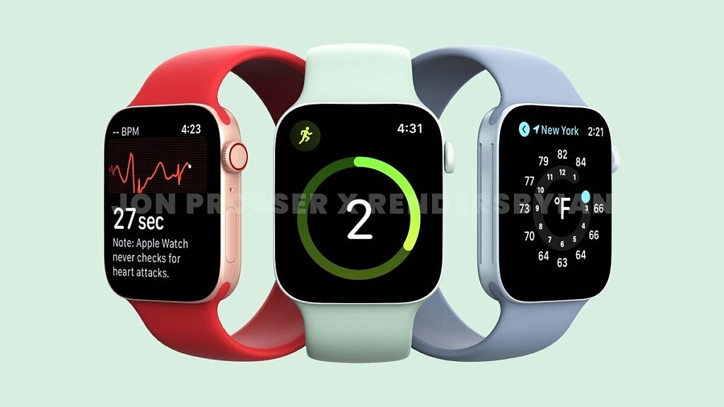 Apple Watch Series 7-red-green-blue