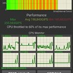 ASUS ZenFone 8 performance in CPU throttling test with dynamic mode enabled