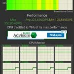 ASUS ZenFone 8 performance in CPU throttling test with high-performance mode enabled