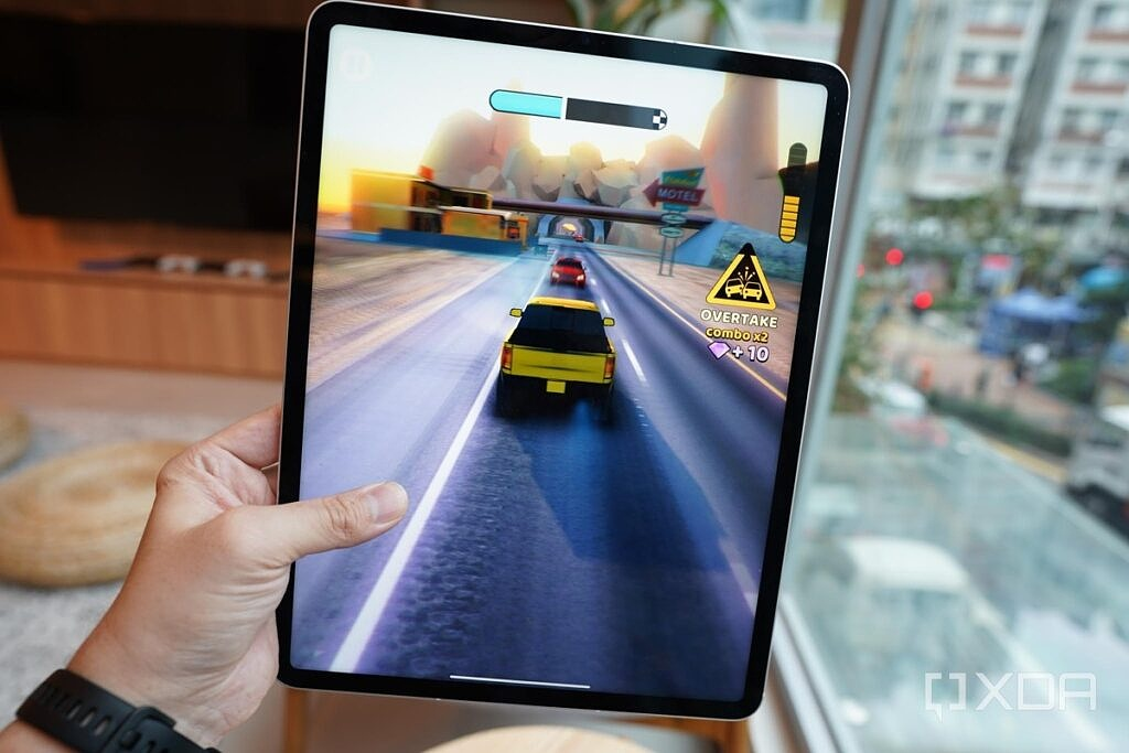 The iPad Pro running the game Rush Hour 3D.