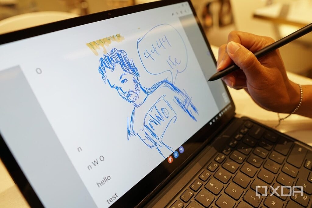 Using the S-Pen with the Galaxy Tab S7.