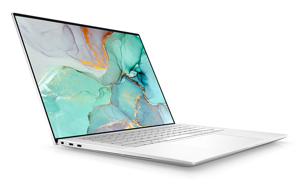 Dell XPS 15 9510 angled view