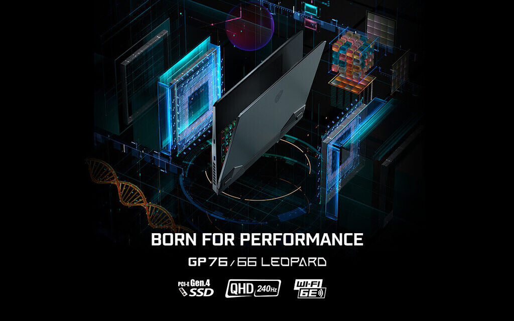 MSI GP76 and GP66 with Born for Performance text