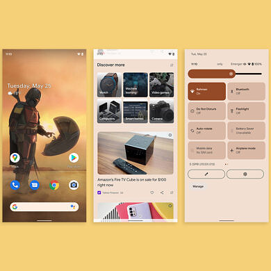 Google Feed now supports Android 12's wallpaper-based theming system