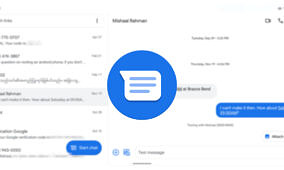 Google Messages prepares to add a split-screen view for tablets