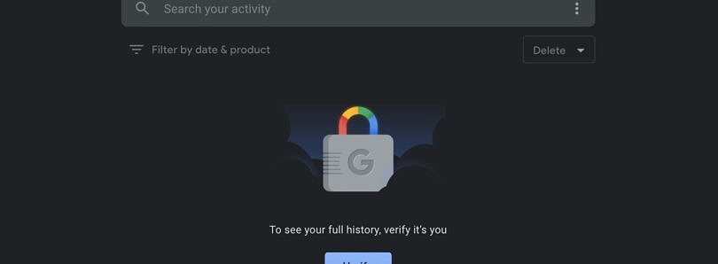 Google now allows you to add password protection to 'My Activity' usage history