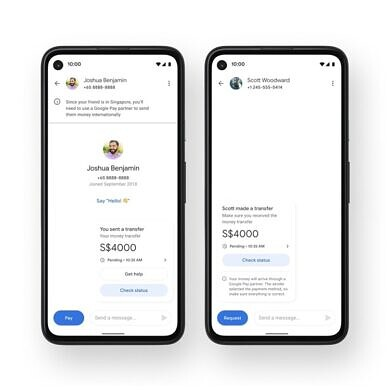 Google Pay now allows U.S. users to send money abroad